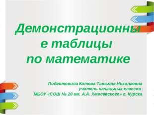 Демонстрационные таблицы по математике Подготовила Котова Татьяна Николаевна