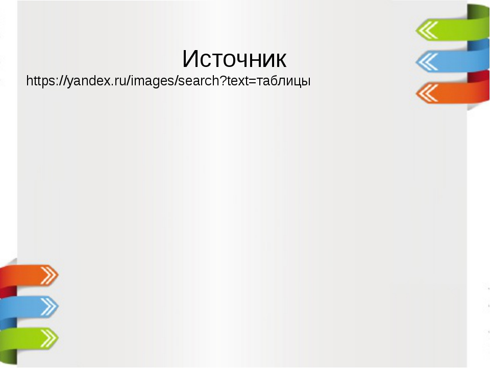 Источник https://yandex.ru/images/search?text=таблицы