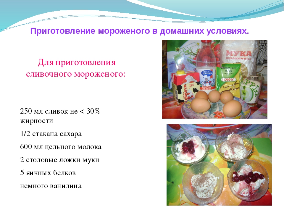 Как делать мороженое в домашних условиях рецепты 175