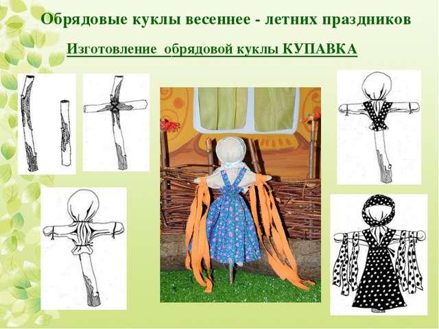 Обрядовые куклы весеннее - летних праздников Изготовление обрядовой куклы КУ...
