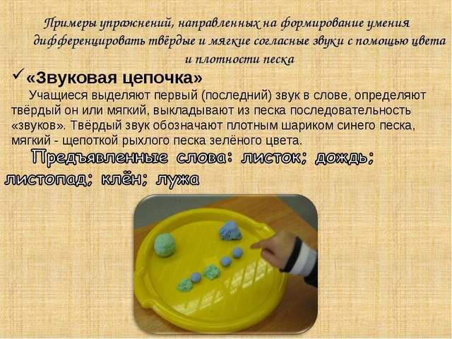 Примеры упражнений, направленных на формирование умения дифференцировать твёр...