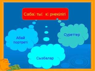 Абай портреті Сабақтың көрнекілігі: Сызбалар Суреттер