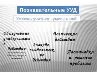Общеучебные универсальные действия «Ищу и нахожу», «Читаю, говорю и понимаю»