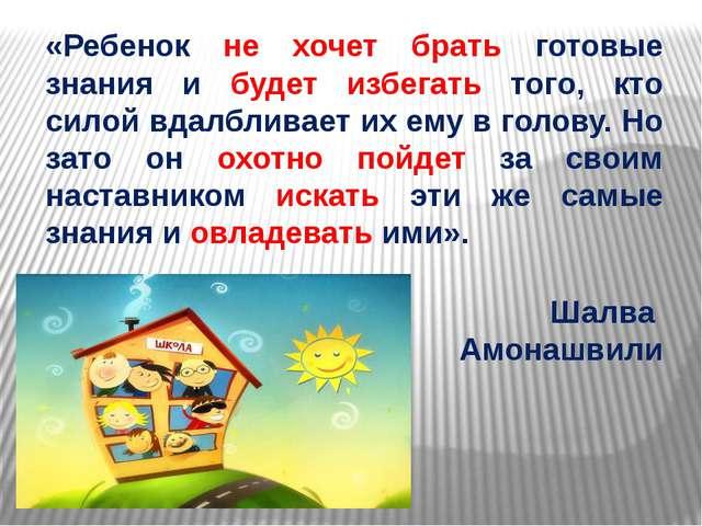 «Ребенок не хочет брать готовые знания и будет избегать того, кто силой вдалб...
