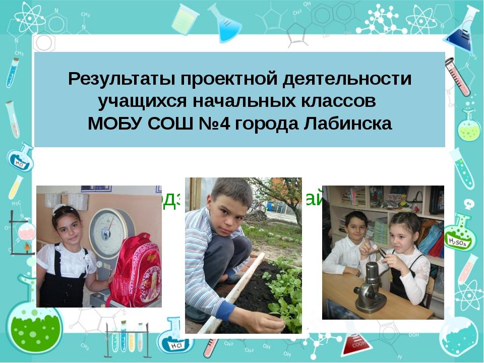 Результаты проектной деятельности учащихся начальных классов МОБУ СОШ №4 горо...