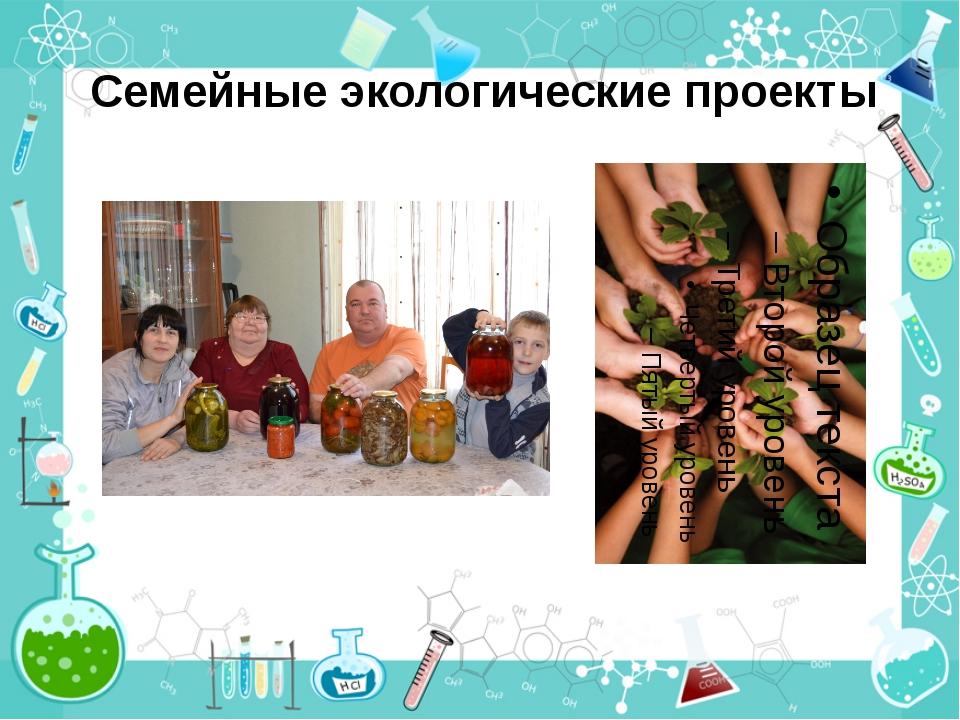 Семейные экологические проекты