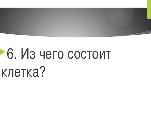 6. Из чего состоит клетка?