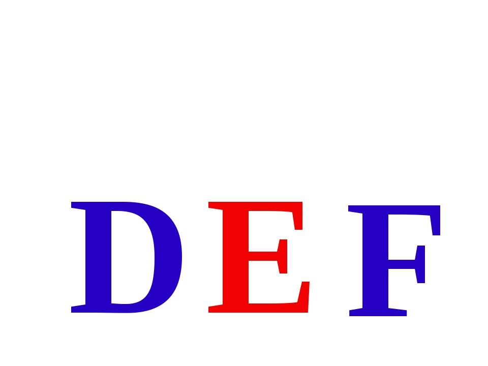 F E D