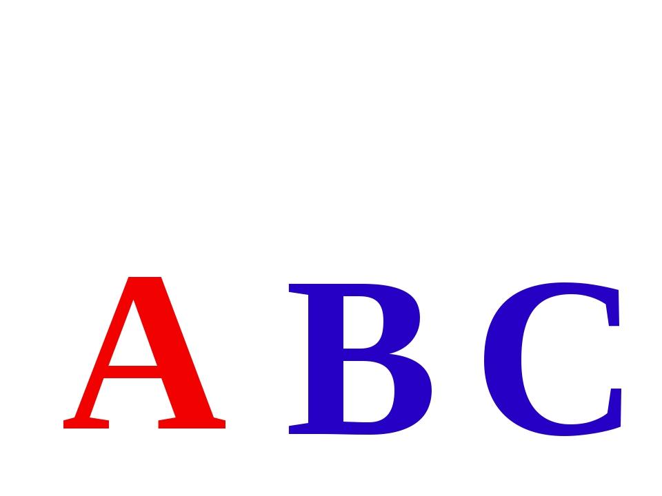 A B C