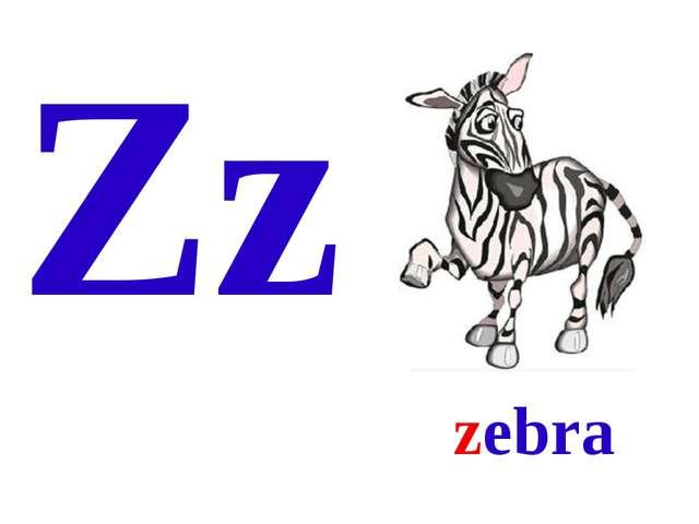 Zz zebra