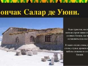 Солончак Салар де Уюни. Ради туристов, местные жители строят мини-отели из со