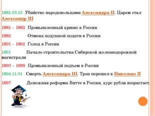 1881.03.13 Убийство народовольцами Александра II. Царем стал Александр III 18