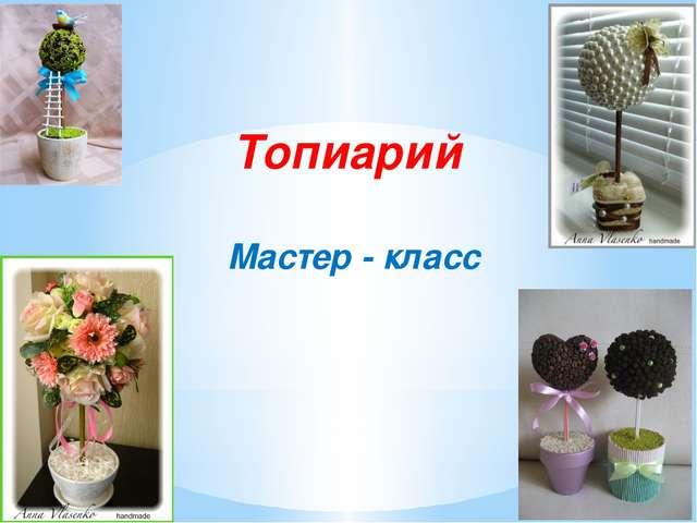 Топиарий Мастер - класс