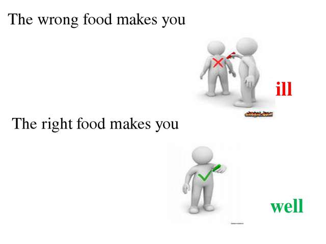 The wrong food makes you ill The right food makes you well
