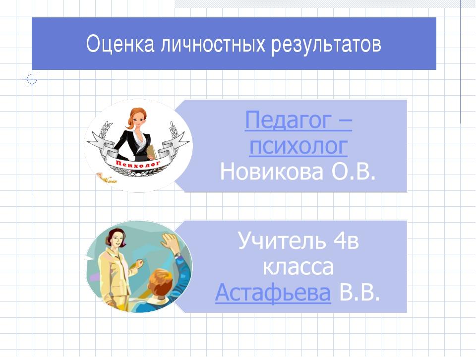 Оценка личностных результатов