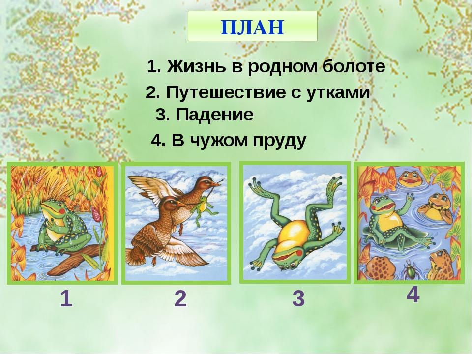 Составь план к сказке лягушка путешественница