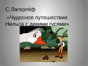 С.Лагерлёф «Чудесное путешествие Нильса с дикими гусями»