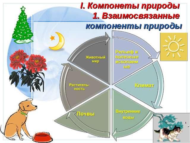 I. Компонеты природы 1. Взаимосвязанные компоненты природы Стр. * 20.01.2006...