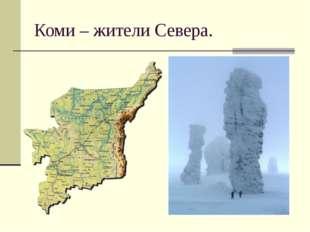 Коми – жители Севера.