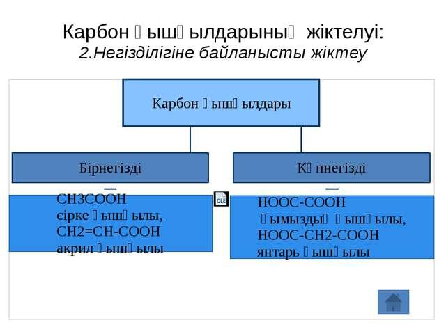 Карбон қышқылдарының жіктелуі: 2.Негізділігіне байланысты жіктеу