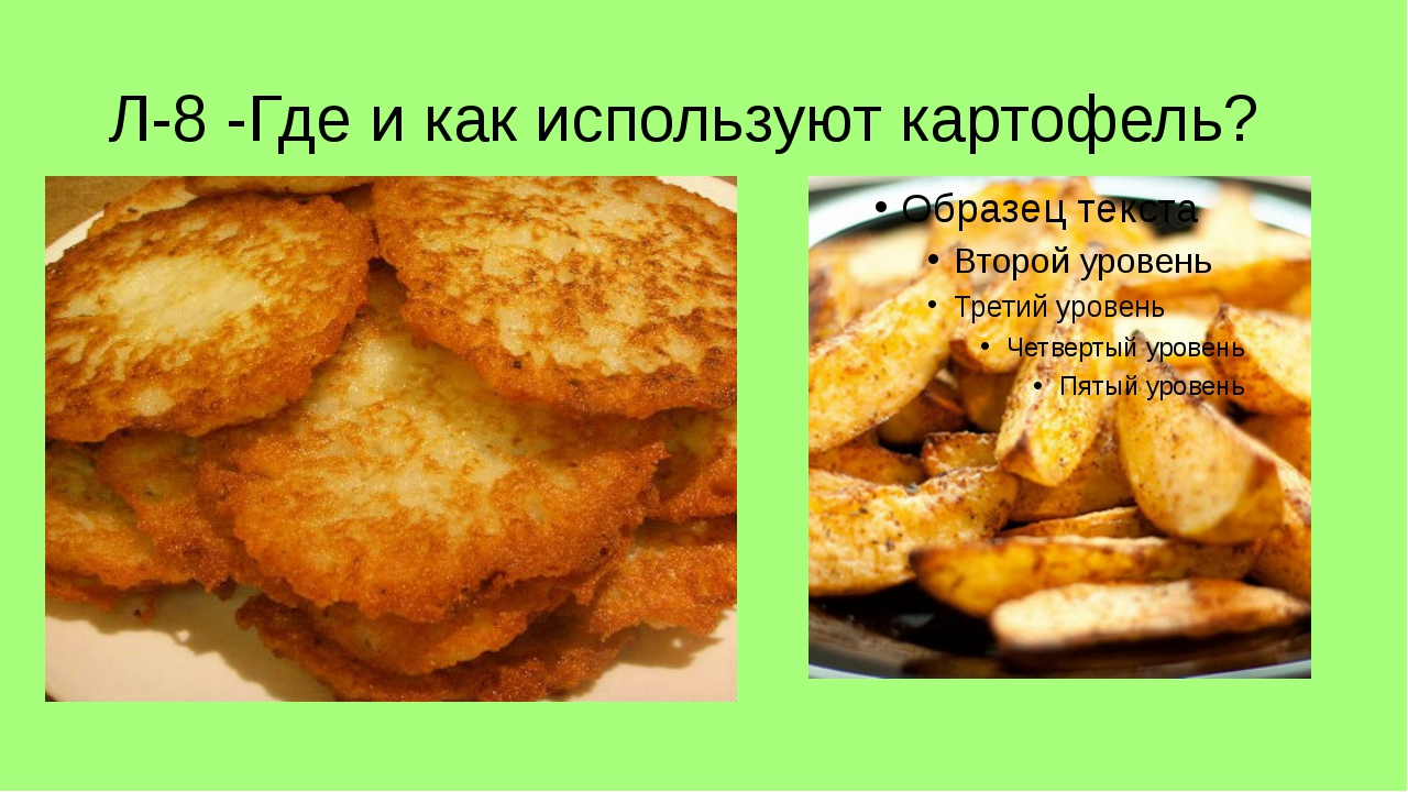Л-8 -Где и как используют картофель?
