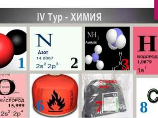 IV Тур - ХИМИЯ СО 1 2 3 4 5 6 7 8 Сульфид меди Аммиак Азот
