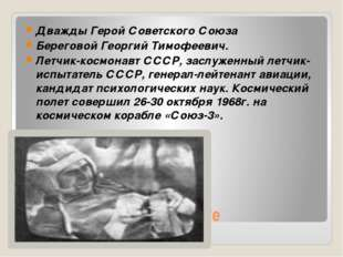 В полете Дважды Герой Советского Союза Береговой Георгий Тимофеевич. Летчик-