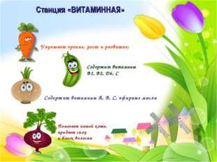 Станция «ВИТАМИННАЯ» Улучшает зрение, рост и развитие; Содержит витамины B1,