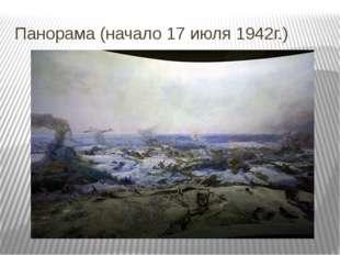 Панорама (начало 17 июля 1942г.) Так выглядит поле битвы в музее. На самом де