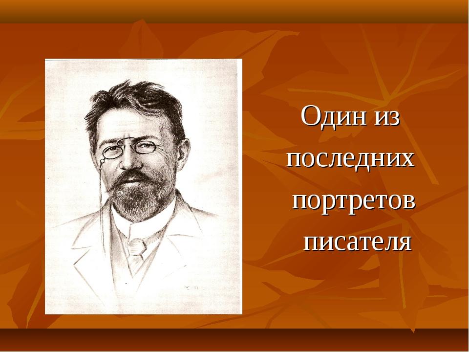 Один из последних портретов писателя