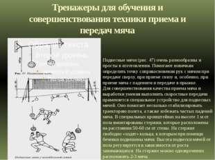 Тренажеры для обучения и совершенствования техники приема и передач мяча Подв
