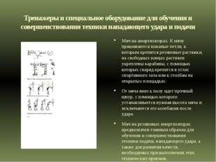 Тренажеры и специальное оборудование для обучения и совершенствования техники