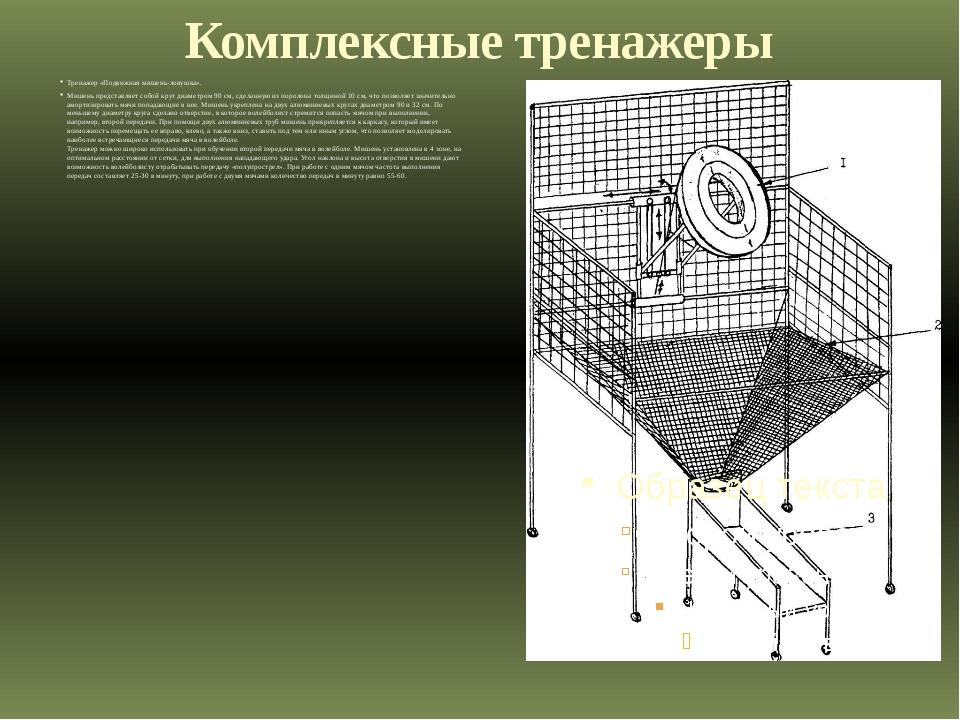 Комплексные тренажеры Тренажер «Подвижная мишень-ловушка». Мишень представляе...