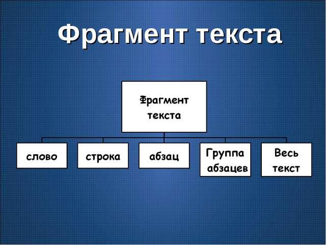 Фрагмент текста
