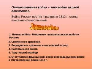1. Начало войны. Вторжение наполеоновских войск в Россию 2. Смоленское сражен