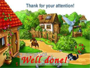 Thank for your attention! Well done!
