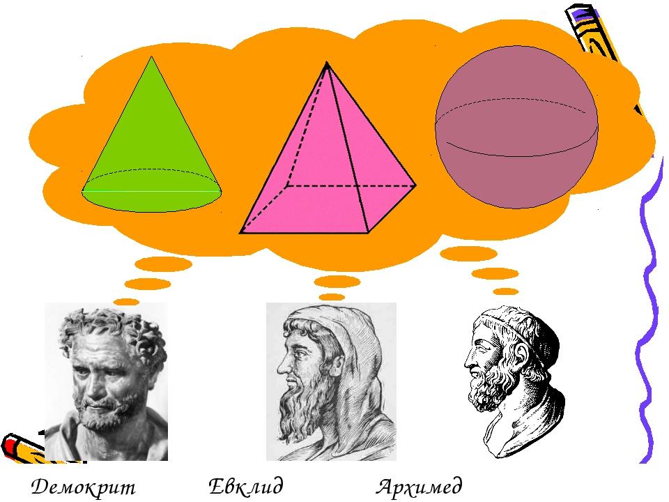 ДемокритЕвклид Архимед
