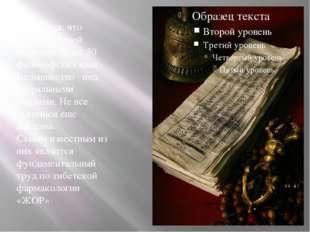 Считается, что великим ламой написано более 50 философских книг. Большинство