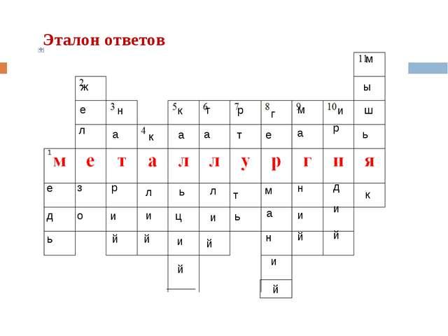 Эталон ответов е д ь ж е л з о н а р и й к л и й к а ь ц и й т а л и й м а н...