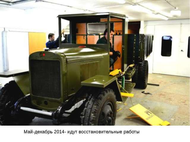 Май-декабрь 2014- идут восстановительные работы
