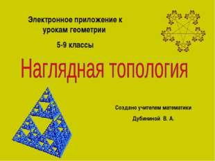 Электронное приложение к урокам геометрии 5-9 классы Создано учителем математ