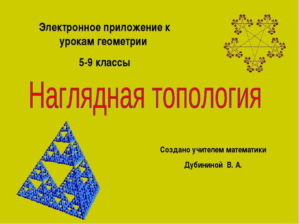 Электронное приложение к урокам геометрии 5-9 классы Создано учителем математ...
