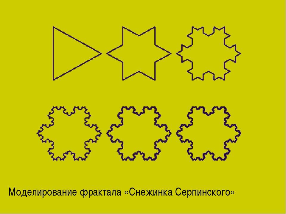Моделирование фрактала «Снежинка Серпинского»