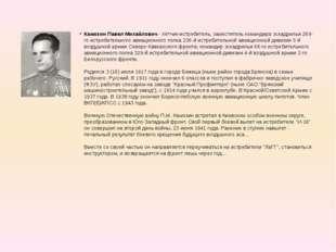 Камозин Павел Михайлович - лётчик-истребитель, заместитель командира эскадрил