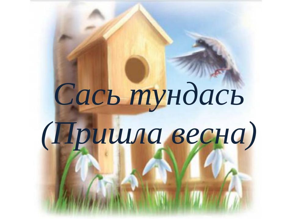 Сась тундась (Пришла весна)