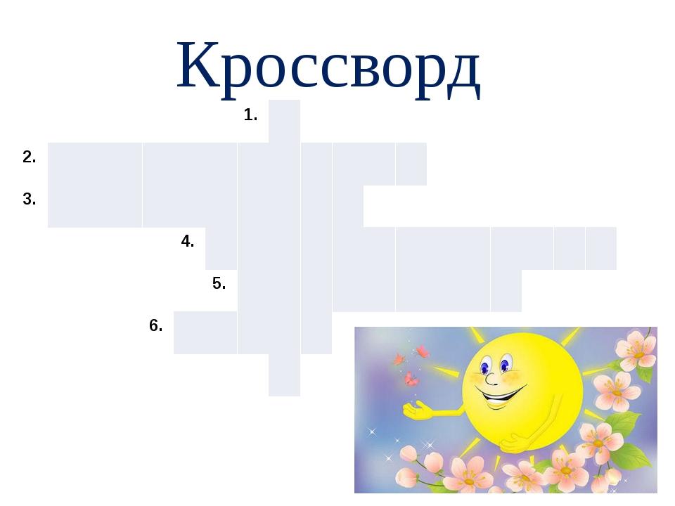 Кроссворд 1. 2. 3. 4. 5. 6.