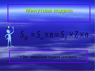 Минутная подача Sм - минутная подача (мм/мин)
