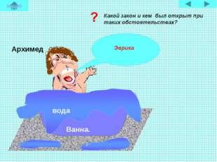 Ванна. вода Архимед