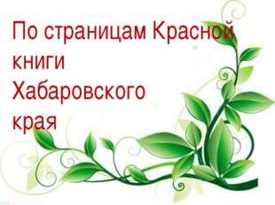 По страницам Красной книги Хабаровского края