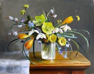 Как рисовать весенние цветы в доу?